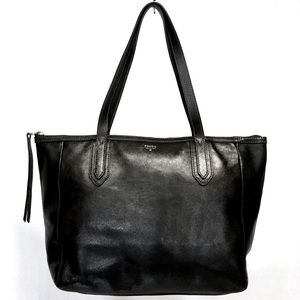 FOSSIL SYDNEY SHOPPER TOTE Black Leather